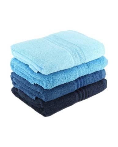 Súprava 4 modrých bavlnených uterákov Rainbow Sky, 50 x 90 cm