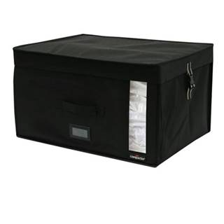 Čierny úložný box s vákuovým obalom Compactor Infinity, objem 150 l