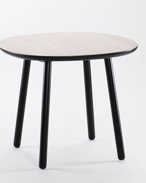 EMKO Čierno-biely jedálenský stôl z masívu EMKO Naïve, ⌀ 90 cm