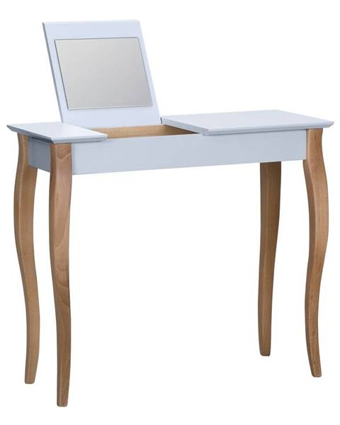 Ragaba Svetlosivý toaletný stolík sozrkadlom Ragaba Dressing Table,dĺžka85cm