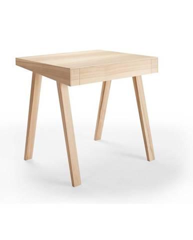 Písací stôl z litovského jaseňa EMKO, 80 x 70 cm