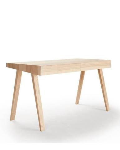 Písací stôl z litovského jaseňa EMKO, 140 x 70 cm