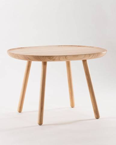 Prírodný stolík z masívu EMKO Naïve, ø64cm