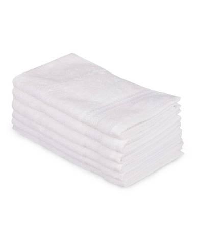 Súprava 6 bielych bavlnených uterákov Madame Coco Lento Puro, 30×50 cm