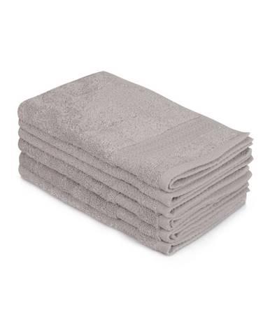 Sada 6 sivých bavlnených uterákov Madame Coco Lento Gris, 30 × 50 cm