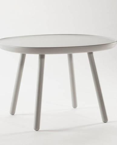 Sivý stolík z masívu EMKO Naïve, ø64cm