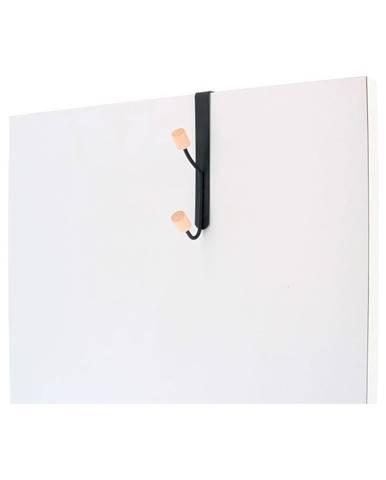 Vešiak na dvere z kovu s 2 háčikmi Compactor