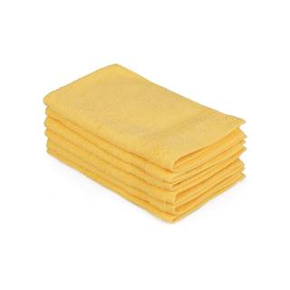 Sada 6 žltých bavlnených uterákov Madame Coco Lento Amarillo, 30×50 cm