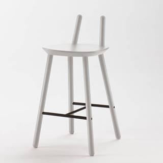Sivá barová stolička z masívu EMKO Naïve