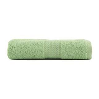 Zelený uterák z čistej bavlny Sunny, 70 × 140 cm