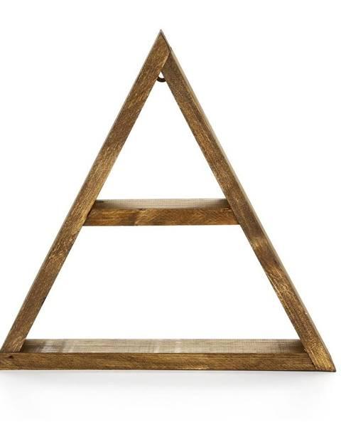 Evila Originals Nástenná drevená polica Geometric