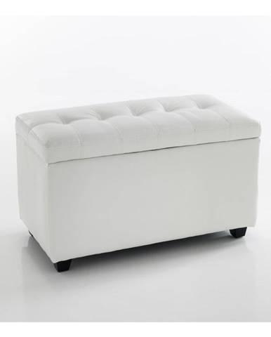 Biela lavica s úložným priestorom Tomasucci Nice