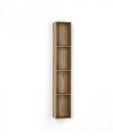 Drevená polička s 4 úložnými priestormi Tomasucci Billa, 120×15×20 cm