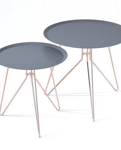 Sada 2 modrých konferenčných stolíkov Tomasucci Jolli