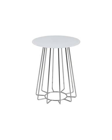 Biely odkladací stolík Actona Casia, ⌀ 40 cm