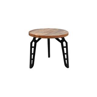 Odkladací stolík s doskou z mangového dreva LABEL51 Flintstone, ⌀ 45 cm