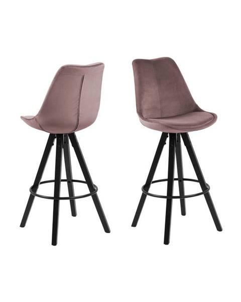 Actona Púdrovoružová barová stolička Actona Dima