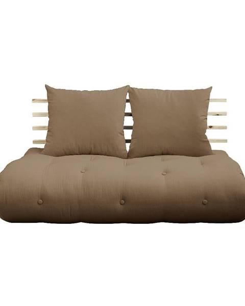 Karup Design Rozkladacia pohovka s hnedým poťahom Karup Design Shin Sano Natural/Mocca