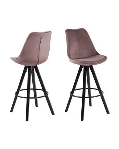Púdrovoružová barová stolička Actona Dima