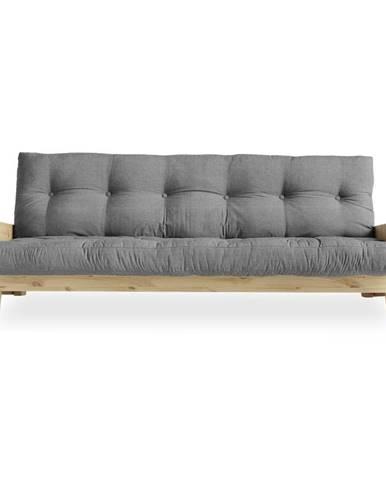 Rozkladacia pohovka so sivým poťahom Karup Design Indie Natural/Granite Grey