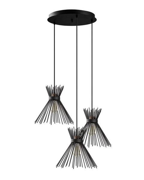 Opviq lights Čierne závesné svietidlo Opviq lights Kirpi