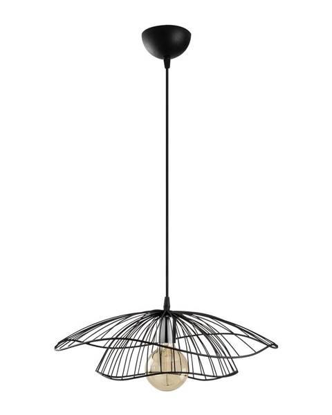 Opviq lights Čierne závesné svietidlo Opviq lights Tel, ø50cm