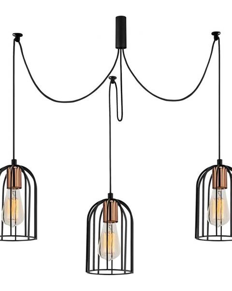 Opviq lights Čierne závesné svietidlo pre 3 žiarovky Opviq lights Pamukkale