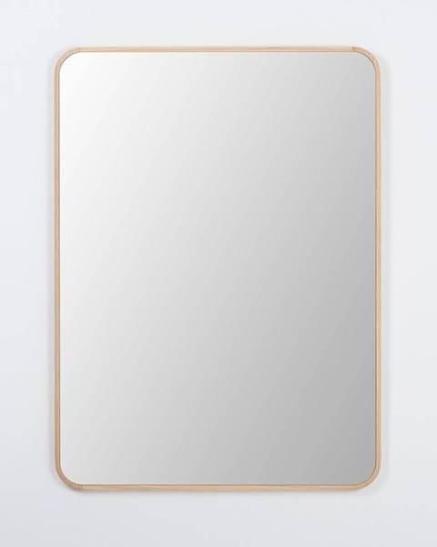 Gazzda Nástenné zrkadlo s rámom z masívneho dubového dreva Gazzda Ena