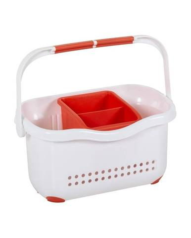 Bielo-červený košík k drezu Addis Caddy