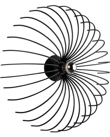 Čierne nástenné svietidlo Opviq lights Aspendos, ø 56 cm