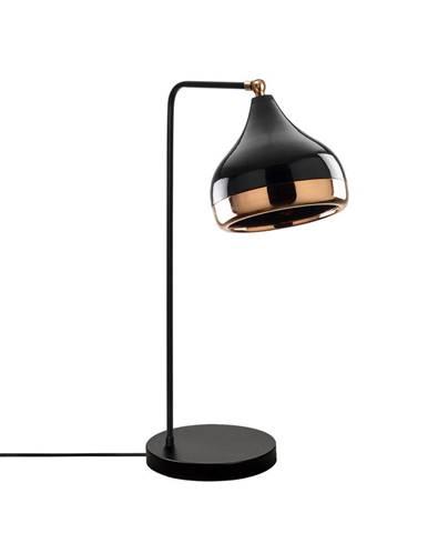 Stolová lampa v čierno-medenej farbe Opviq lights Yildo