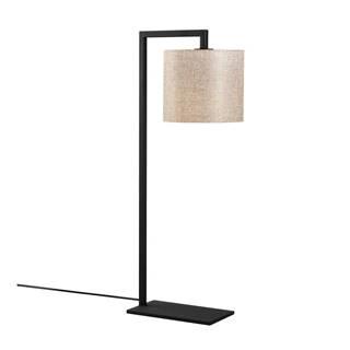 Čierno-béžová stolná lampa Opviq lights Profil