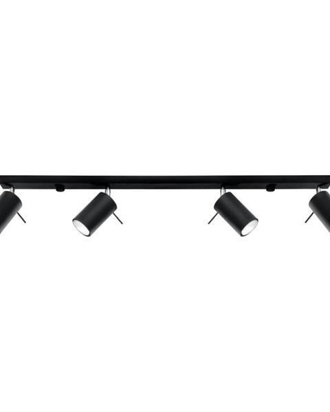 Nice Lamps Čierne stropné svietidlo Nice Lamps Etna 4L