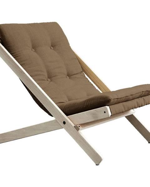 Karup Design Kávovohnedé skladacie kreslo z bukového dreva Karup Design Boogie Raw/Mocca