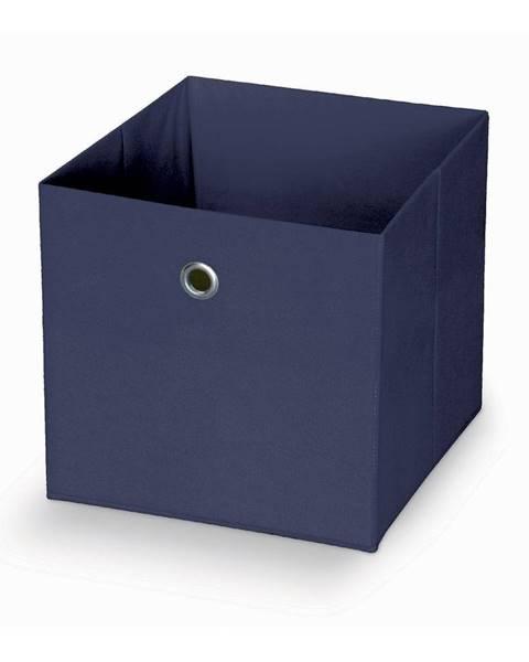 Domopak Tmavomodrý úložný box Domopak Stone, 32 x 32 cm