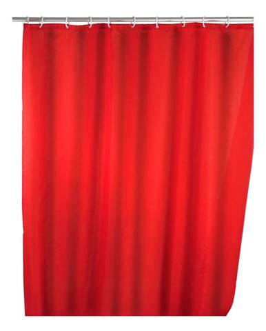 Červený sprchový záves Wenko Puro, 180 x 200 cm