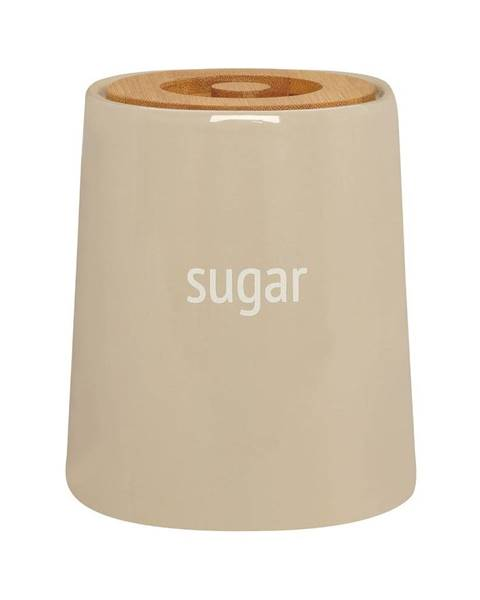 Premier Housewares Krémovobiela dóza na cukor s bambusovým vrchnákom Premier Housewares Fletcher, 800 ml
