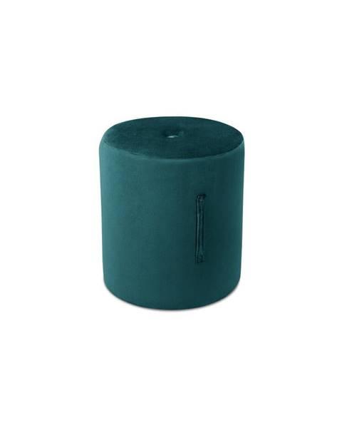 Mazzini Sofas Petrolejovomodrý puf Mazzini Sofas Fiore, ⌀ 40 cm