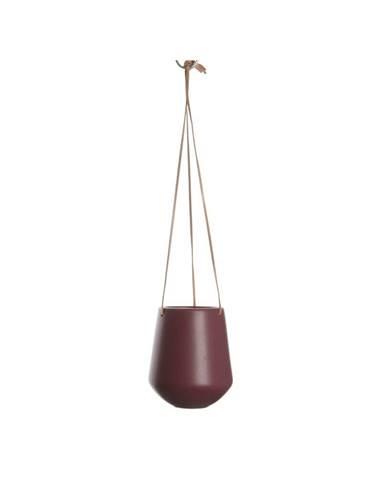 Tmavočervený závesný kvetináč PT LIVING Skittle, ⌀13,5cm