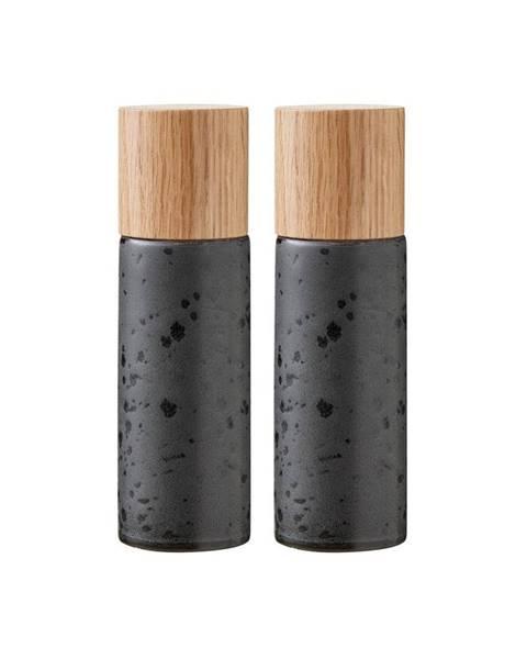 Bitz Súprava 2 čiernych kameninových mlynčekov na soľ a korenie Bitz Basics Black