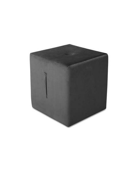 Mazzini Sofas Tmavosivý puf Mazzini Sofas Margaret, 40 × 45 cm