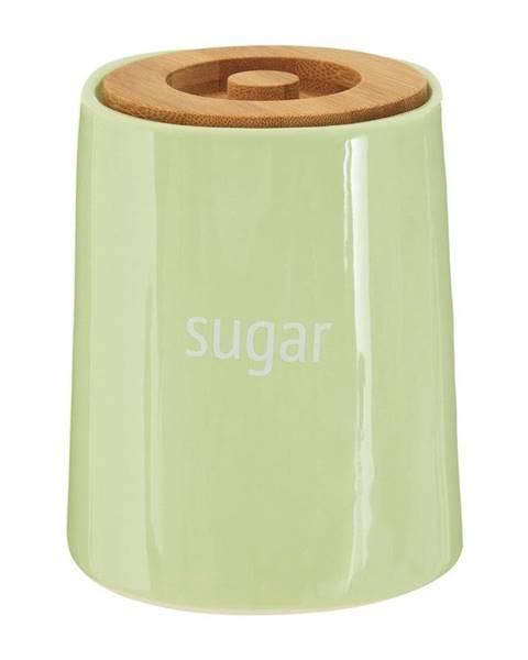 Premier Housewares Zelená dóza na cukor s bambusovým vrchnákom Premier Housewares Fletcher, 800 ml