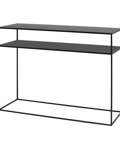 Čierny konzolový stolík Custom Form Tensio,100 x 35 cm