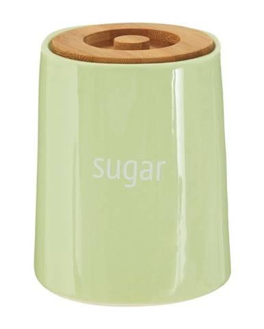 Zelená dóza na cukor s bambusovým vrchnákom Premier Housewares Fletcher, 800 ml