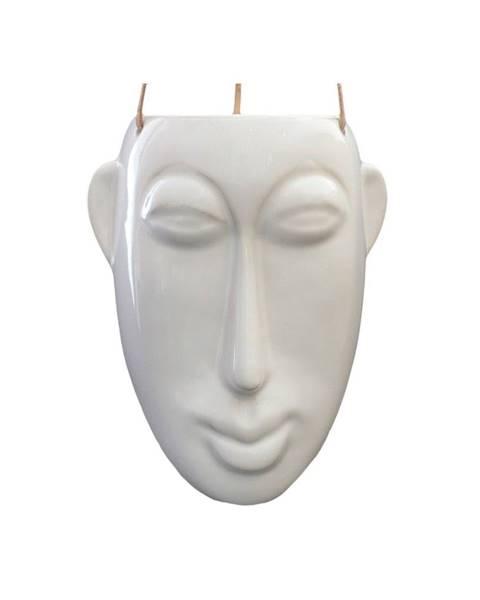 PT LIVING Biely závesný kvetináč PT LIVING Mask, výška22,3cm