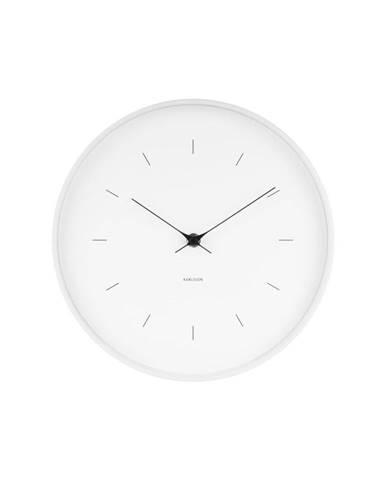 Biele nástenné hodiny Karlsson Butterfly, ⌀ 27,5 cm