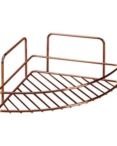 Kúpeľňová rohová polička Metaltex Copper