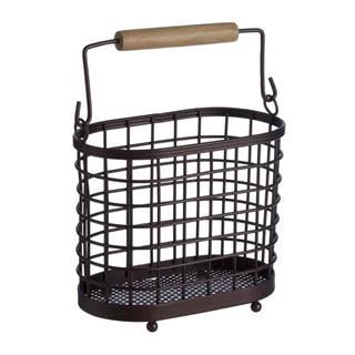 Železný stojan s dreveným úchytom na kuchynské nástroje Premier Housewares