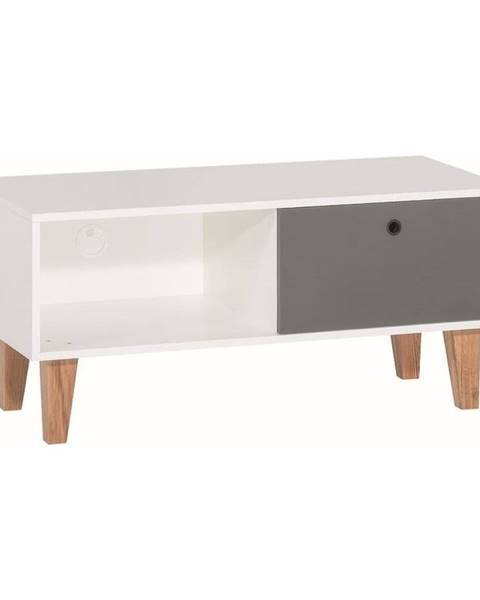 Vox Bielo-sivý TV stolík Vox Concept