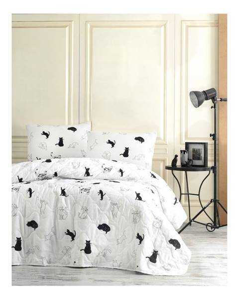 EnLora Home Prešívaný pléd a 2 obliečky na vankúš Robin, 200×220 cm